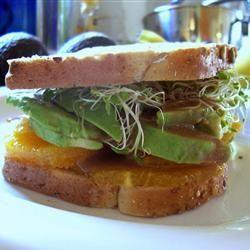 Avocado and Orange Sandwich | Recipes to Try | Pinterest