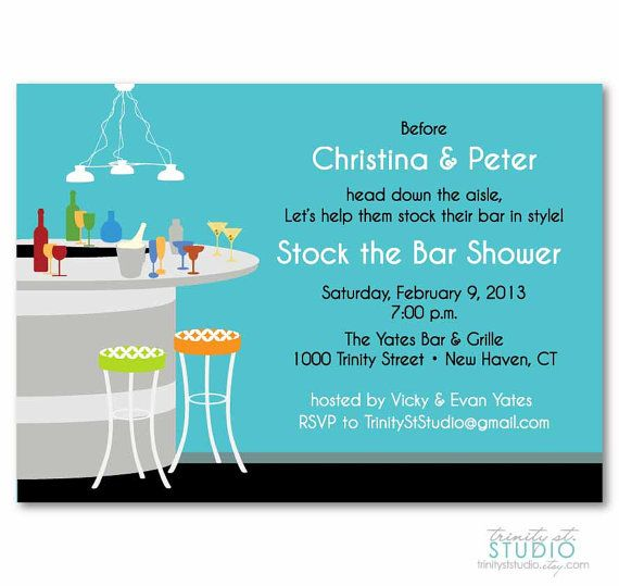 Stock the Bar Invitation Bridal Shower Couples by TrinityStStudio, $17 ...