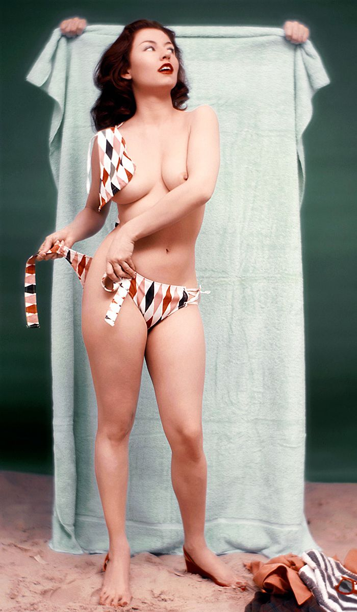 Alice Denham; Playboy's Playmate of the Month, July 1956.
