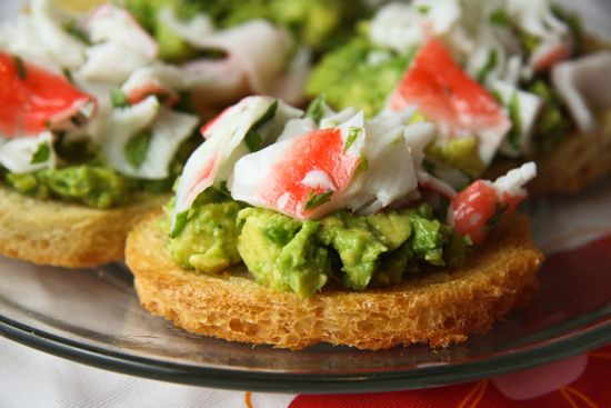 Crab and avocado toasts | Breads & Spreads | Pinterest