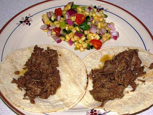 slow cooker barbacoa stringy beef - WW 6 PP