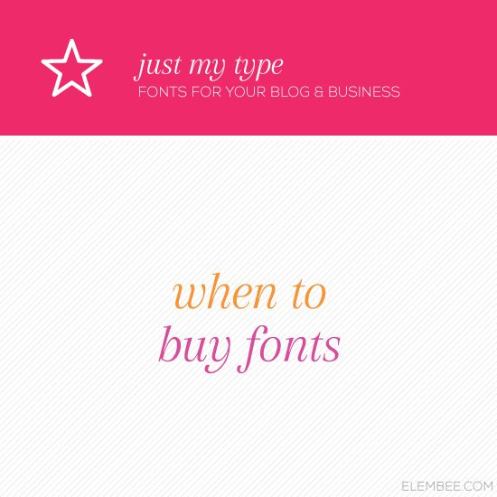 buying fonts