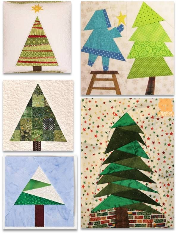 Free Christmas Tree Decoration Sewing Patterns : Quilt christmas trees sewing