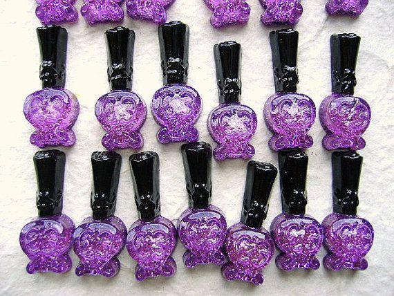 WHOLESALE Kawaii Cabochons 25 Purple Nail Polish DecoSweets