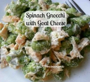 Spinach Gnocchi with Goat Cheese | Recipe