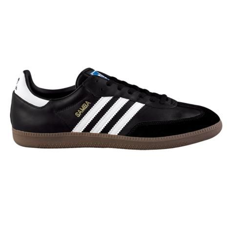 ... Mens adidas Samba Leather Athletic Shoe in Black White Gum at Journeys