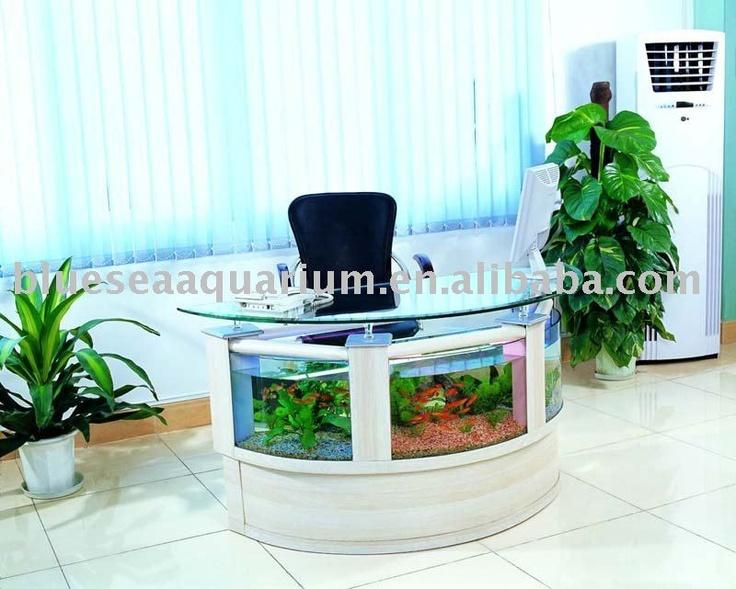 Desk fish tank fish tanks pinterest for Fish tank desk