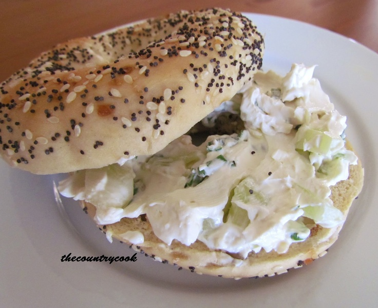 Cucumber Cracker and Bagel Spread
