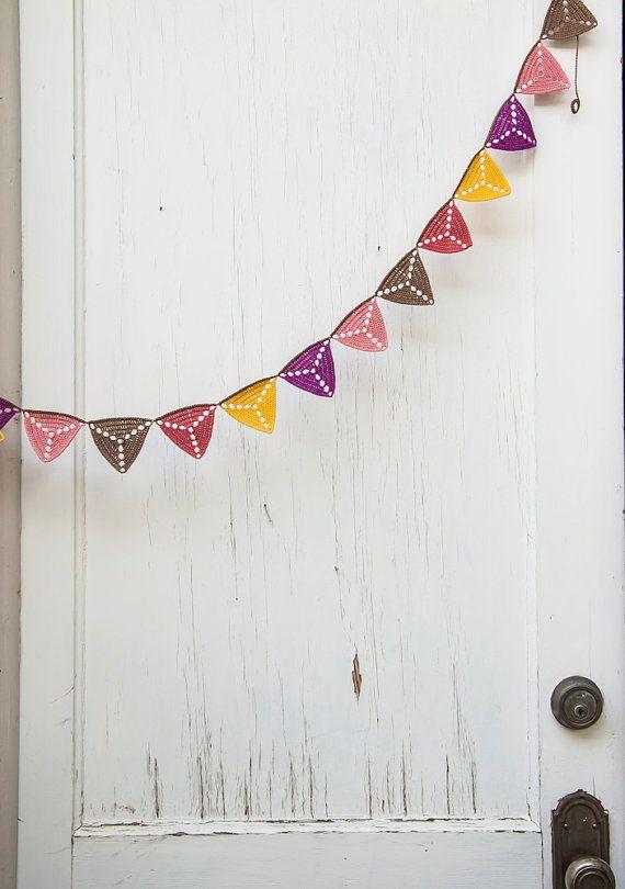 Crochet bunting for outdoor parties BUY