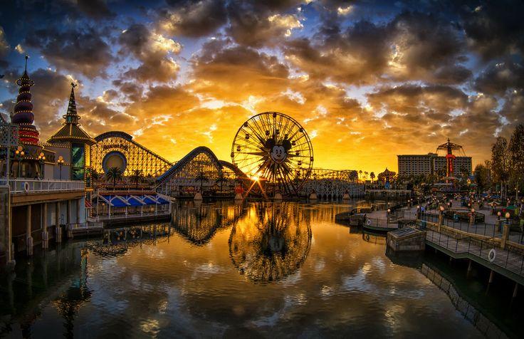 Paradise Pier Sunset