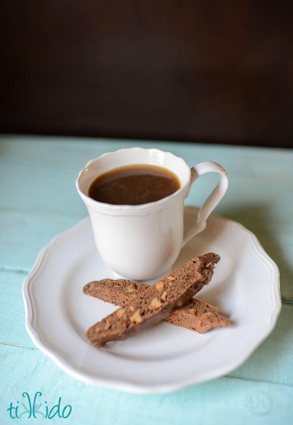 Easy, Delicious, Chocolate Peanut Butter Biscotti Recipe | TikkiDo.com