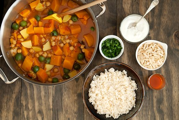 moroccan butternut squash chickpea stew recipe (using preserved lemons ...