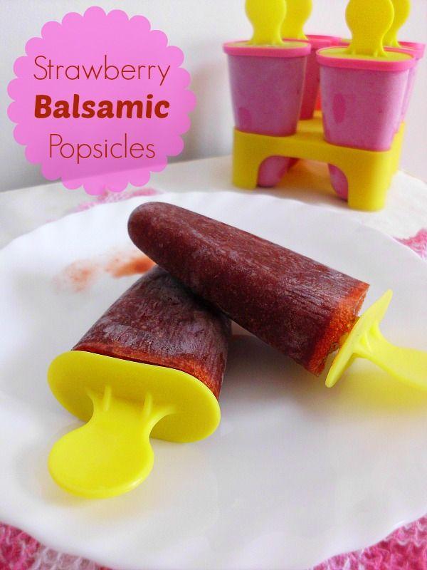 Balsamic-Strawberry Pops Recipe — Dishmaps