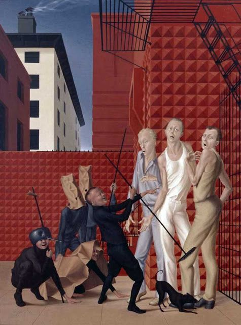 George Tooker, Children and spastics (1946)