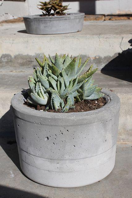 diy cement planter