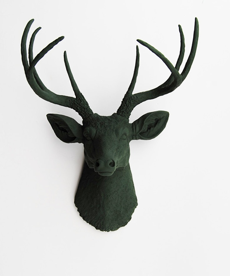 Faux Deer Head Faux Taxidermy The Basil Forest Green