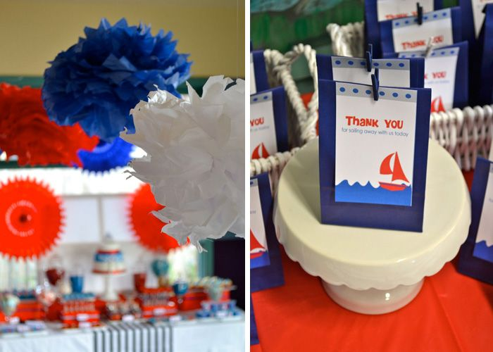 Favors for Nautical Party and Table Decor