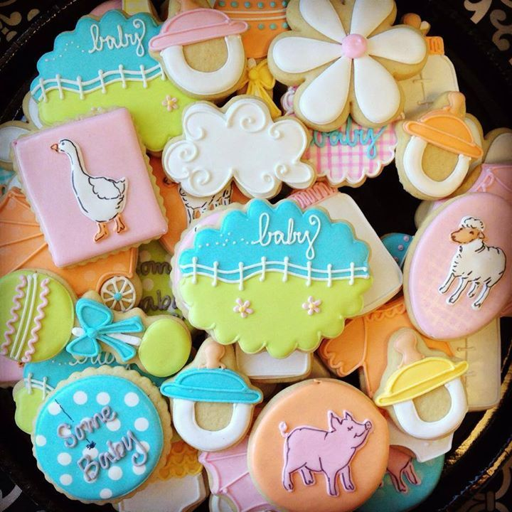 web farm baby shower decorated cookies cookie madness baby