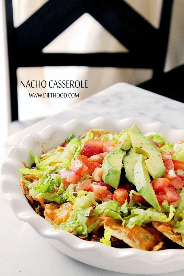 Layered Nacho Casserole at Diethood Nacho Casserole + $300 Amazon Gift ...