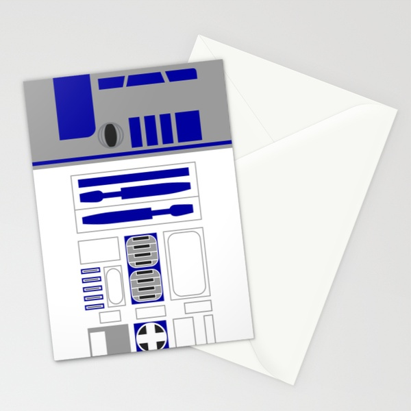Star Wars R2D2 Vector Stationery Cards by ironman52885 | Society6