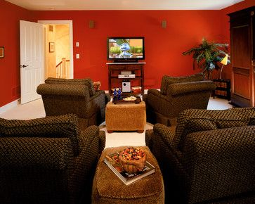 recliners and ottomans - small media room | for the home...