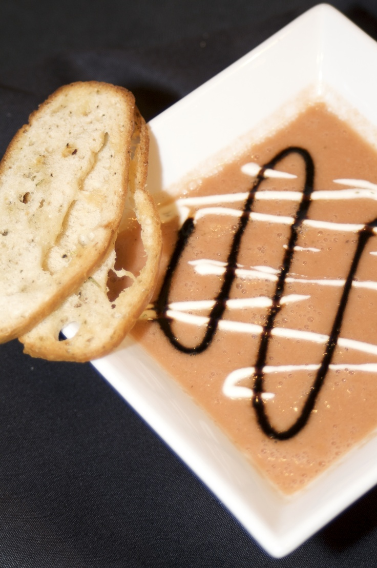 Chilled Heirloom Tomato Gazpacho - Our signature chilled tomato soup ...