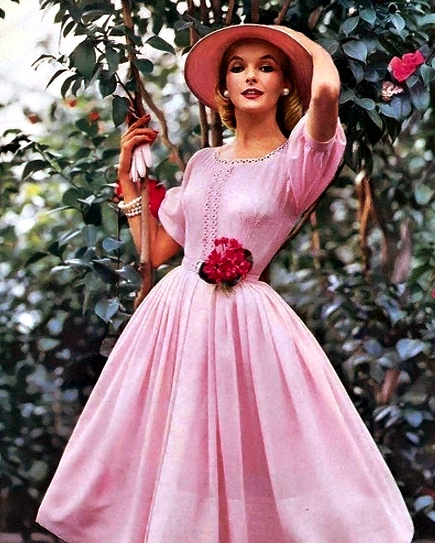 Pink Dress 1950's