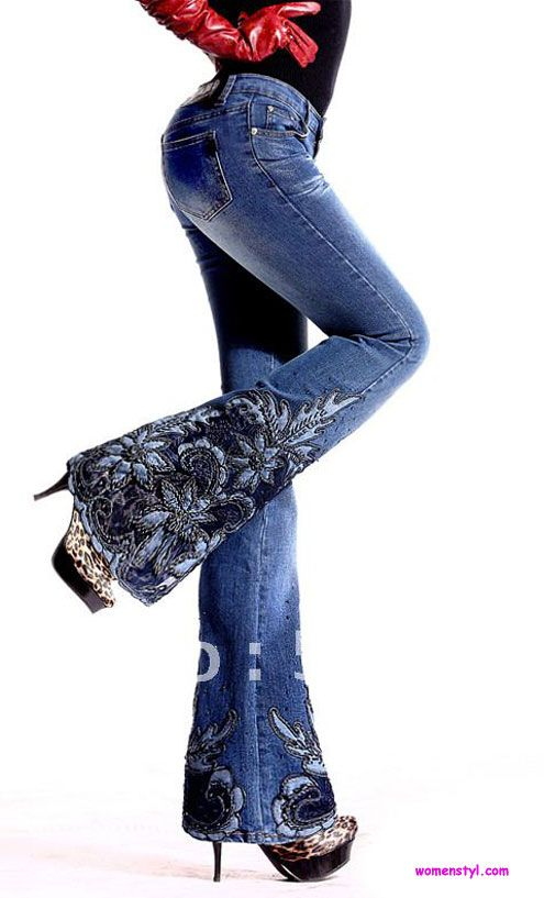 Embroidered Jeans1  Womenstyl  Pinterest