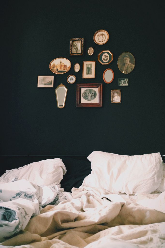 black walls & frames