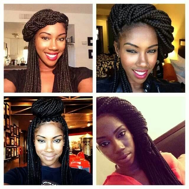 Different ways to style box braids | Braided Beauty | Pinterest