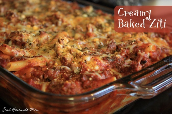 Creamy baked Ziti | Yummy recipes I want to make | Pinterest