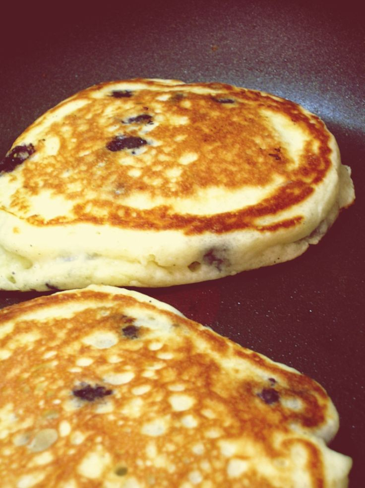 blueberry buttermilk pancakes- substitute butter for coconut oil