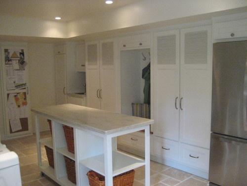 Laundry Room - folding island