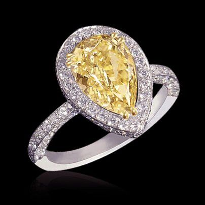 canary yellow ring jewelry