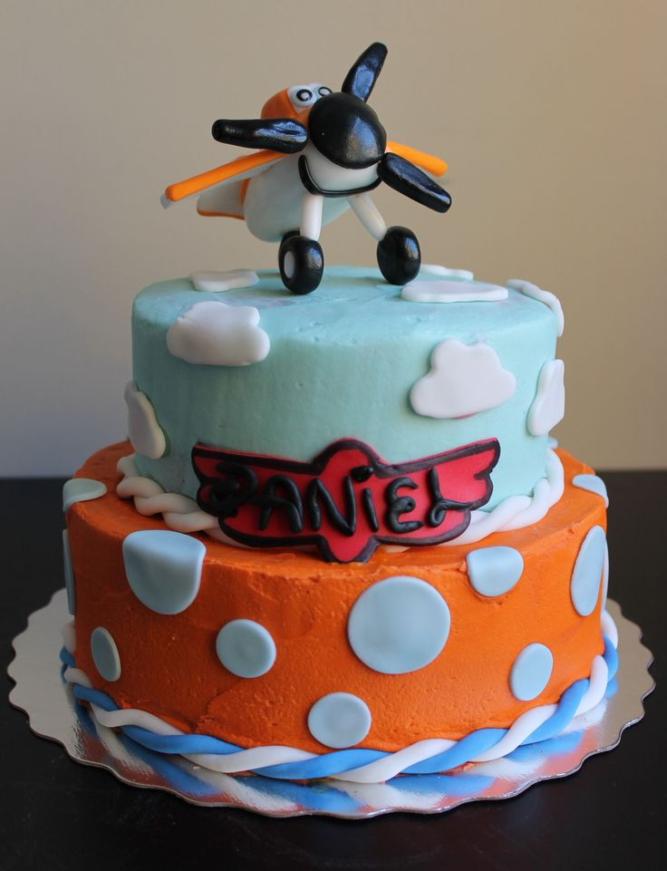 Disney Planes Cake Images : Disney Planes cake with topper made entirely out of ...