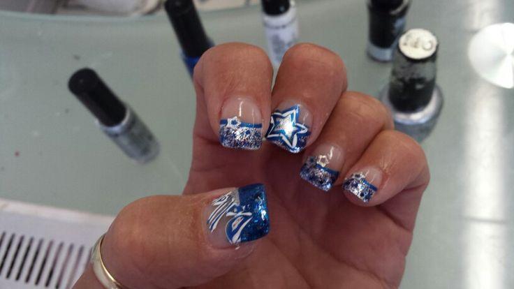 Dallas Cowboys nails by Sophia | Dallas Cowboys baby! | Pinterest