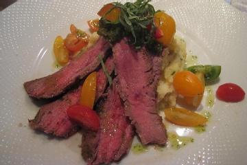 Ginger Flank Steak with Sake-Glazed Vegetables