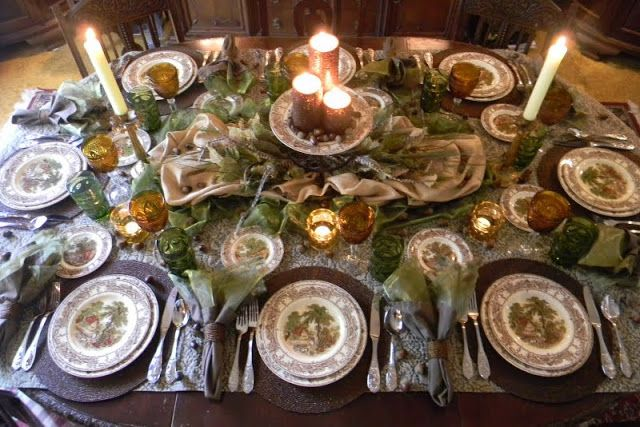 Victorian table setting decor pinterest for Edwardian table setting