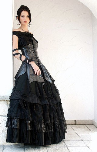 Black Wedding Dress Wedding Ideas Pinterest