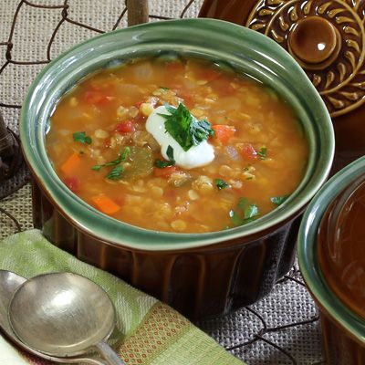 Spiced Tomato and Red Lentil Soup | Soups to Try | Pinterest