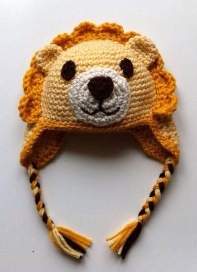 Crochet baby lion hat crochet crafts pinterest