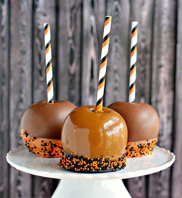 dipped caramel apples recipe ForCaramel Apple Recipes For Halloween
