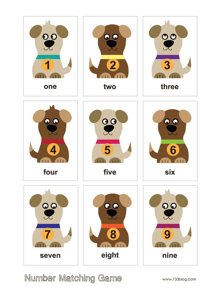 number-matching-game.pdf | English for littles... | Pinterest