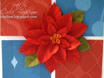 Poinsettia Punch Art Clsup | Punch Art | Pinterest