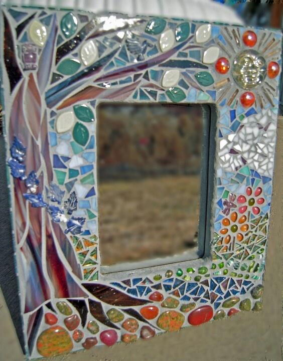 Mosaic frame mirror