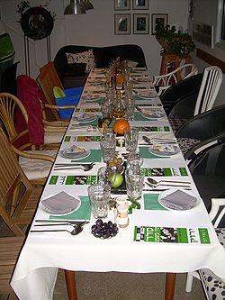 Tu B'Shevat Seder Table