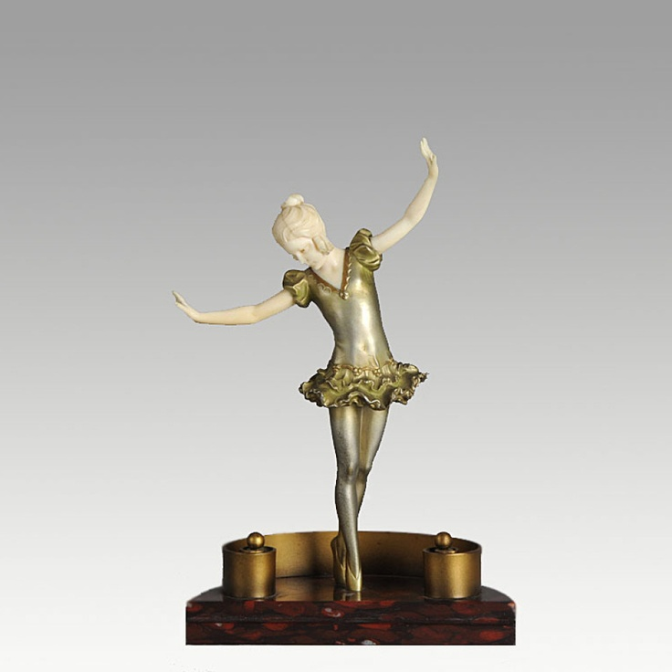 Preiss Bronze and Ivory Ballerina