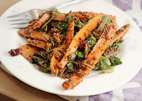 Roasted Carrot and Red Quinoa Salad | All Things Quinoa | Pinterest