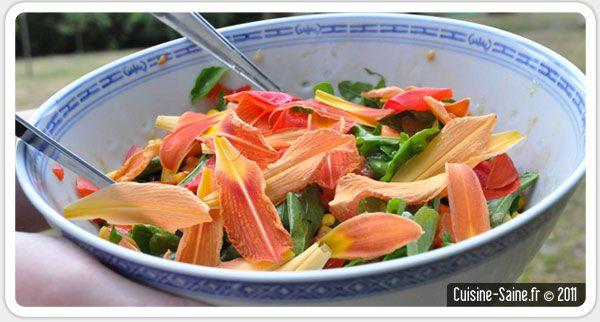 Recette bio minceur : salade composée à l'hémérocalle et ...