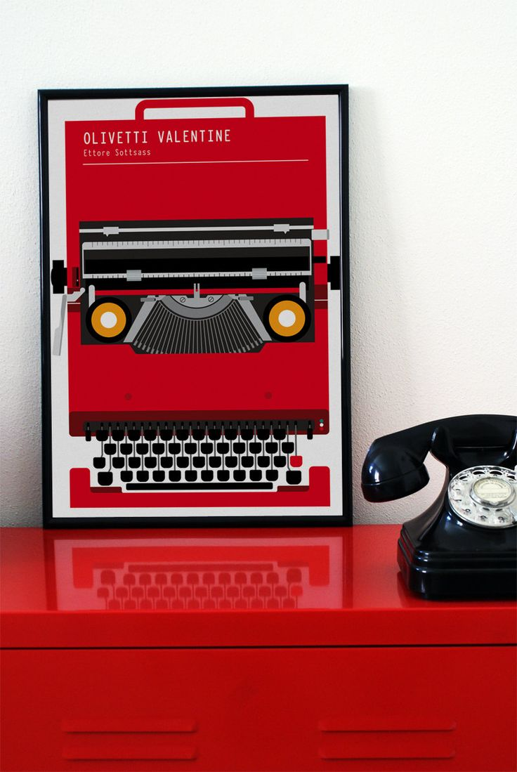 valentine red typewriter